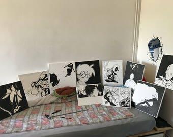 Paintings Manga, movies, comics, etc.