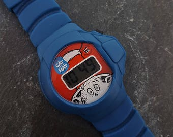 Cat in the Hat Wrist Watch, Dr Seuss Watch, Retro Watch, Theodor Geisel, Thing 1 One and Thing 2 Two, Birthday Gift, Seussical, Mike Myers
