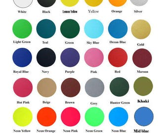"SALE 3yd x 20"" Heat Transfer Vinyl - 30 Colors Available"
