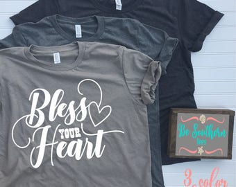 bless your heart shirt, Christian gifts for women, faith t shirts for women, Christian t shirts, blessed mama shirt, southern shirts, best