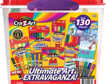 Cra-Z-Art Ultimate Art Tub - Over 130 Pieces