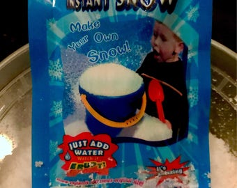 3 packets of Fake Snow Packet, ingredient for cloud slime