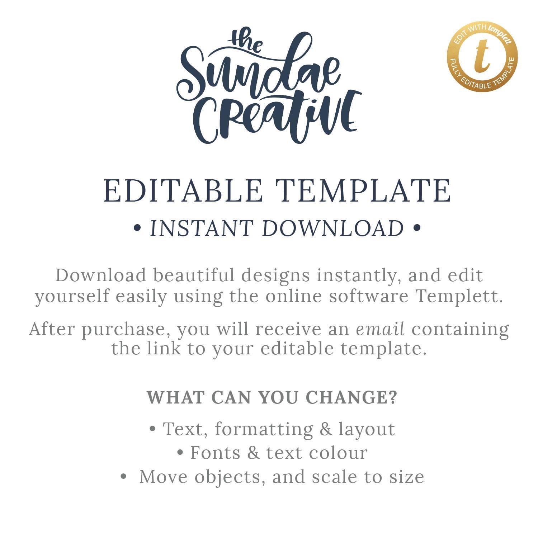 Printable Wedding Invitation | Wedding Invitations | TEMPLETT ...