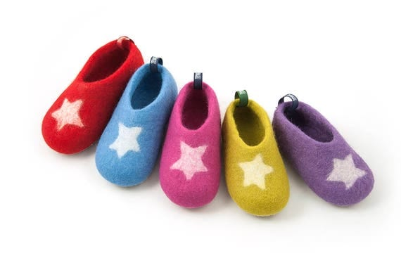 Kids wool slippers toddler house shoes boys & girls house
