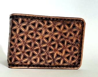 Flower of Life Wallet, Geomety, Geometric, Meaning of life, Sacred Geometry