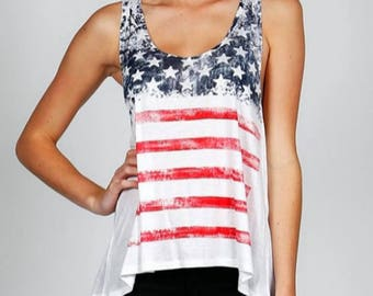 4th of July Tank Top - American Flag Tank Top - July 4th Tank Top - American Tank Top - 4th of July Shirt