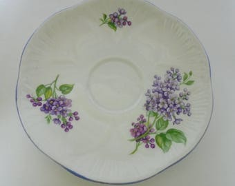 Shelley SAUCER ONLY No teacup Dainty lilac Time orphan lonely piece that needs matching