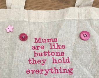 Calico shopper ' mums are like buttons'