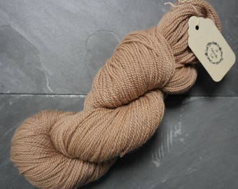 Organic Merino Sock Weight Yarn Dyed With Hibiscus and Avocado