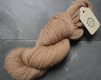 Organic Merino Sock Weight Yarn Dyed With Hibiscus and Avocado
