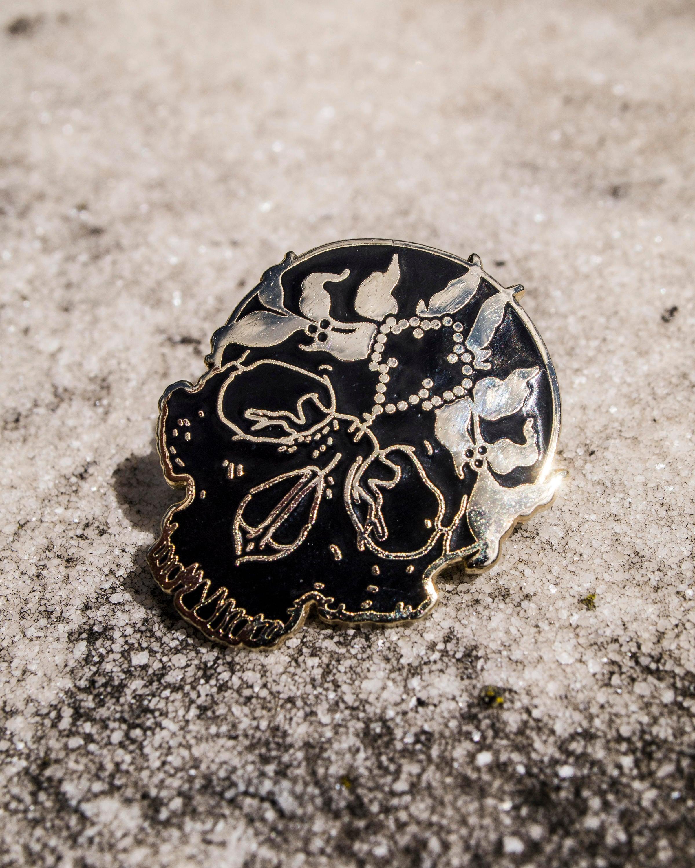 Jeweled Saint Enamel Pin