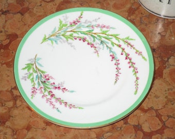 "Royal Doulton Botanical Bell Heather Floral Pattern 6.00"" Salad Bread Cake Dessert Plate Wonderful Condition! #BV"