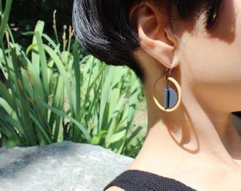TANGERINE Earrings (Drop earrings, Handmade jewelry)