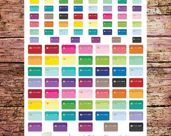 Multicolor Credit Card Stickers | Bill Due Stickers | Payment Due Stickers | Card Stickers | Credit Tracker Stickers