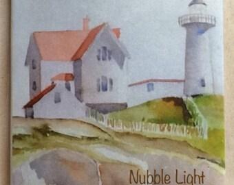 Nubble Light Coasters  (Set of Two)
