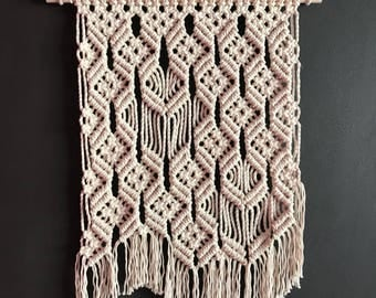 Macrame wall hanging, cotton wall hanging, tapestry, wall decor, beige wall hanging