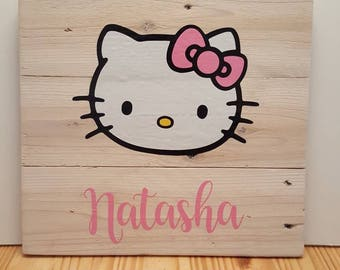 Personalized Hello Kitty Pallet Sign ~ Hello Kitty Nursery Decor ~ Newborn  Gifts ~ Girls Gifts