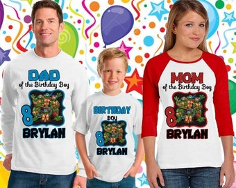 15% Off Teenage Mutant Ninja Turtles Birthday  shirt/ninja turtle birthday shirt/ninja turtle short sleeve/ninja turtle onesie tmnt /136