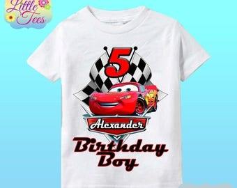 15% Off Disney Cars Birthday Shirt - Lightning McQueen and Mater Racer Shirt/lightning mcqueen shirt/disney cars shirt/birthday boy/159