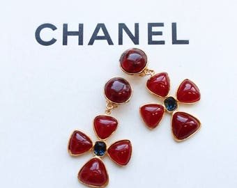 Chanel vintage glass earrings