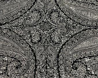 Black Pure Pashmina Shawl/Wrap with Allover Sozni Embroidery, Pure Cashmere Shawl, Sozni Hand Embroidery, Kashmiri Jaal Sozni Work Scarf