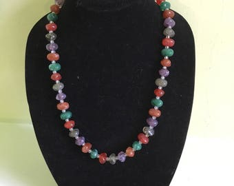 Fun multi colored vintage necklace