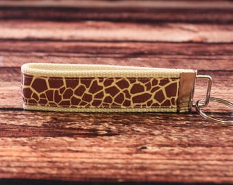 Giraffe Print Key Fob