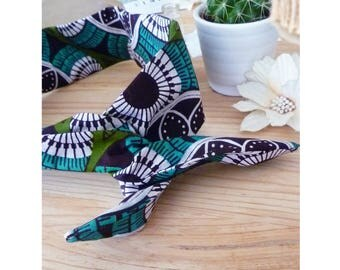 TYANO ▷ headband bow, retro, ethnic African wak multicolored pattern, head band!