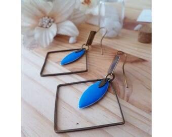 BONNY ▷ hoop earrings repurposed, diamond & blue sequins!