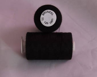 Spool of thread sewing polyester 1 000 m BRUNEEL France TC120 / 1001 Black