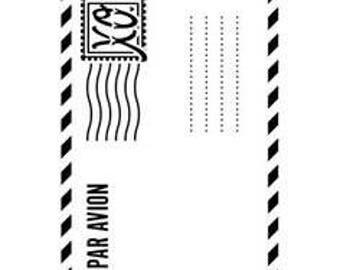 New Darice Embossing Folders Air Mail Envelope
