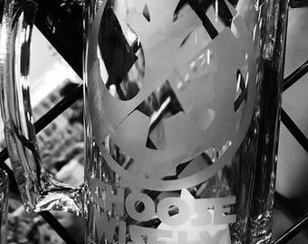 Choose Wisely star wars glass mug