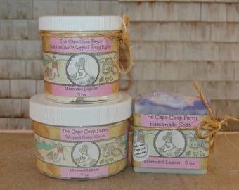 Natural Beauty Gift Set!  Sugar Scrub, Body Butter, Handmade Soap