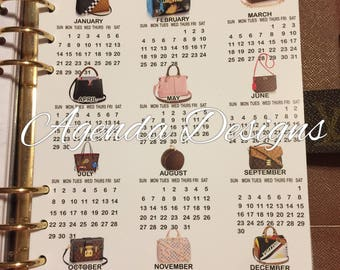 GM/A5 LV bags 2018 Year @ a Glance Calendar mm & pm available as well