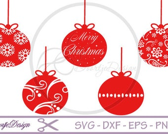Christmas ornaments SVG, Merry Christmas SVG, SVG cut files, scrapbook supplies, svg files Christmas