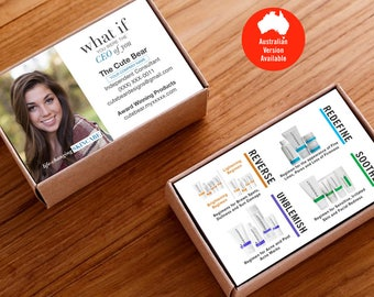 Rodan and Fields Business Card, R and F Cards, R+F, Rodan Business Card, Product Regimens, Printable, Digital