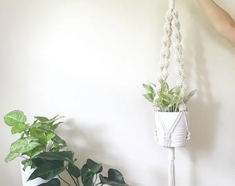 Macrame Plant Hanger, Plant Lady, Modern Planter, Bohemian Home Decor, Macrame Plant Hanging, 70s decor, Macrame Planter, Modern Macrame