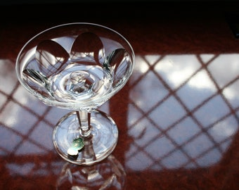"""1 Waterford Crystal Vintage """"Sheila"""" Champagne Coupe/Saucer 3 Available 4.3/4"""" tall"""