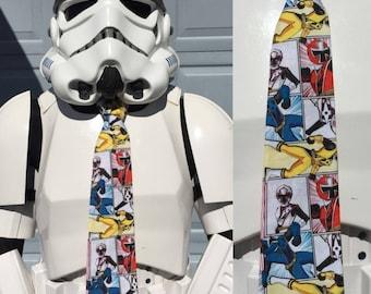 Power Rangers Novelty Necktie - Tie Blue Pink Yellow Red Ranger Saban Go