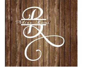 B split letter Wedding 2 font elegant monogram  dfx SVG   decal  signs, vinyl deca,l wood sign t shir,t wedding svg