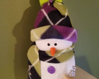 Sock Snowman for Wine Lovers