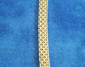 """BR-037: Vintage Solid Italian Silver Bracelet 8"""" Sterling"""