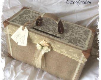 "Wedding urn shaped suitcase Champetre ""love story"""