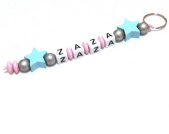 Star Keychain personalize with the name of your choice