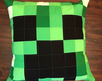 Minecraft Creeper Pillow Cover