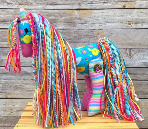 Easter pony easter gift stuffed pony girl gift horse like this item negle Images