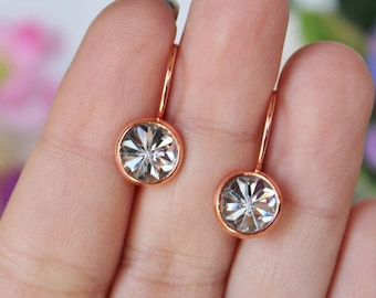 READY TO SHIP / Crystal Earrings / Rose Gold Earrings / Hypoallergenic Earrings / Nickel Free Earrings / Lead Free Earrings