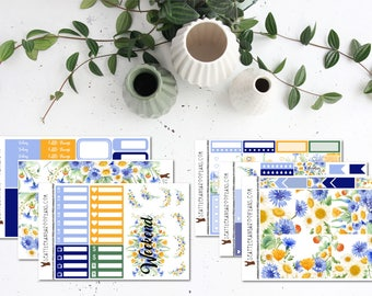 Wild Daisy || Weekly Planner Kit (175+ Stickers) || Erin Condren, Happy Planner, Recollections || SeattlekangarooPlans