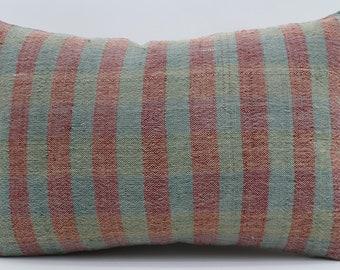 16x24 Kilim Pillows Striped Kilim Pillow Bohemian Pillow 16x24 Kilim Pillows Throw Pillow Turquoise Pillow Cushion Cover  SP4060-1369
