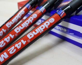 Pens marker marker Red 1 mm in permanent ink to rear CD DVD glass plastic edding edding
